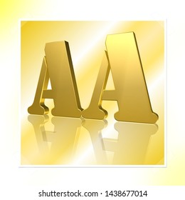 3D Illustration, 3D Rendering: rating or rating code for assessing the creditworthiness of a debtor; Code AA