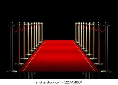 3D illustration/ 3D rendering - red carpet illustration