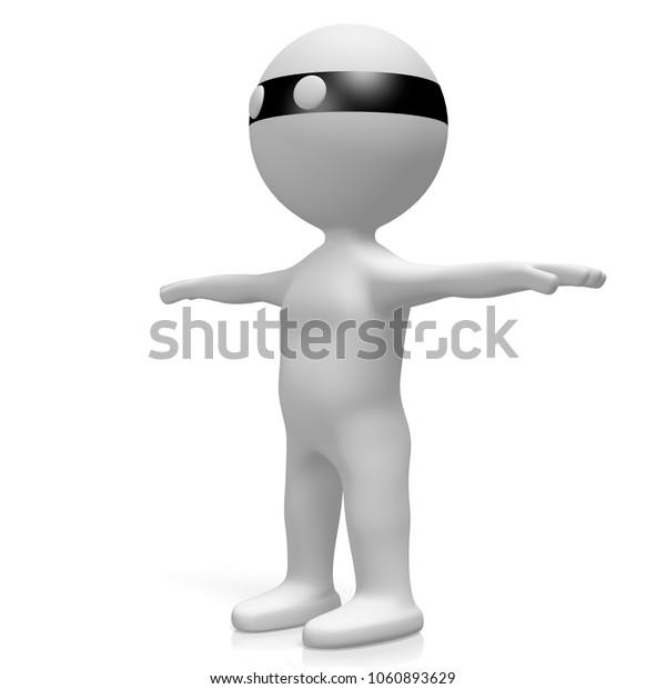 3D illustration/ 3D rendering - Thief