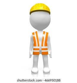 3D illustration/ 3D rendering - worker.