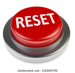 3D illustration reset button