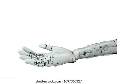 3D illustration of the robotic hand