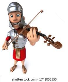 3D Illustration of a roman soldier volonist