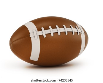 3D Illustration of a Rugby Ball