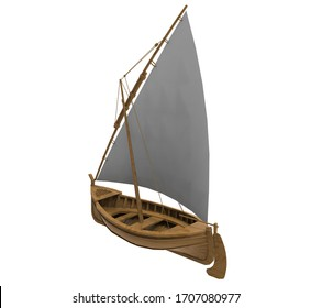 3d illustration of the sail boat