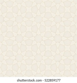 3D illustration of a seamless geometric pattern in cream color