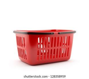 3d illustration of shopping basket isolated on white background