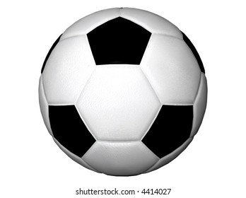 3D Illustration of a soccer-ball
