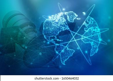 Satelliten-Umlaufbahn für 3D-Illustrationen