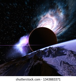 3D Illustration of a Space Scene
