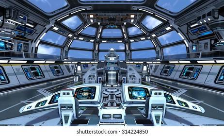 3D illustration of space station