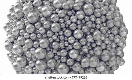 3d illustration of spheres