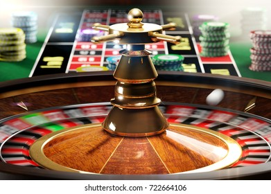 3D illustration of spinning roulette