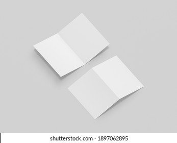 3D Illustration. Squareleaflet brochure mockup isolated.