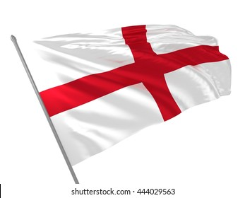 3d illustration of St George Cross or England  / Flags of UK