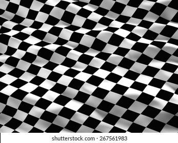 3d illustration of start flag