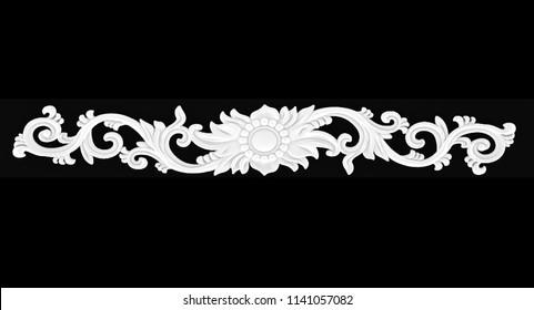 3d illustration stucco decoration, cartouche
