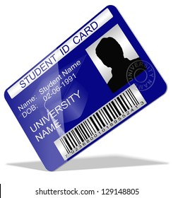 3d illustration of a student ID card / Student ID card