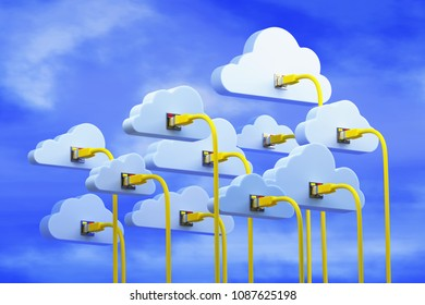 3D illustration - Symbolic data sky
