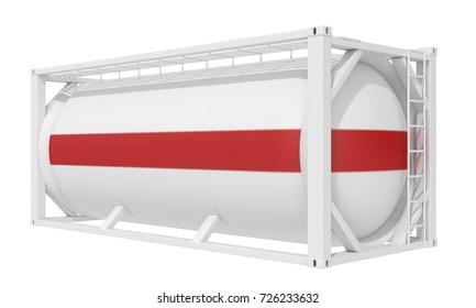 3D illustration Tank-container on a white background