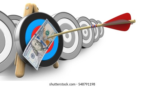 3d Illustration Target Stand Arrow 100 Stock Illustration 548791198 3d arrow statistics chart element. shutterstock