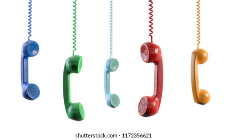 3d illustration Telephone receiver colorful cut out