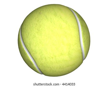 3D Illustration of a tennis ball