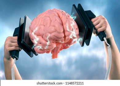 3d Illustration of thought reviving