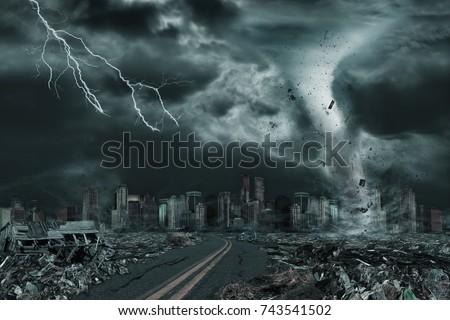 3D illustration of tornado