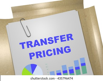 "3D illustration of ""TRANSFER PRICING"" title on business document. Business concept."