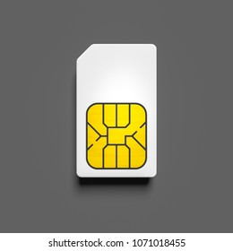 3d illustration of a typical sim card