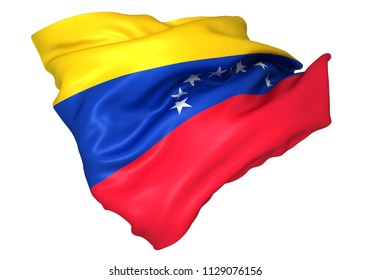 3D illustration of Venezuela flag
