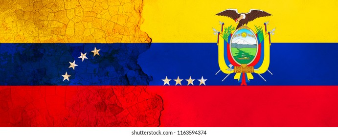3D Illustration for Venezuelan migrants fleeing to Ecuador because of economic and political crisis.