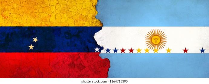 3D Illustration for Venezuelan migrants fleeing to Argentina as economic and political crisis worsens.