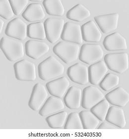 3d illustration of voronoi based elements
