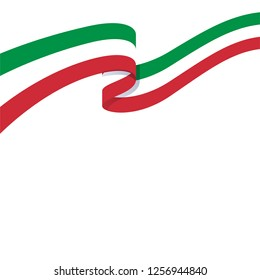 3d illustration of wavy ribbon with Italian national flag colors for your graphic and web design