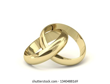 3d illustration wedding ring