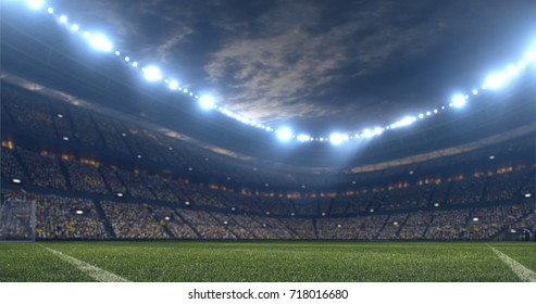 3D illustration/3D rendering of a sport stadium background made without existing references