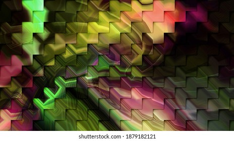 3D illustration,modern background illustration,fractal surface,light effect texture