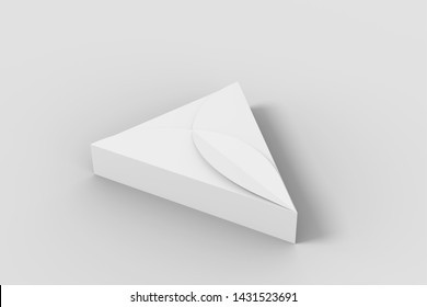3D illustrator Design of box for pizza slice and flap box.