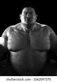 3D illustrator Japanese sumo wrestler