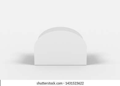 3D illustrator Tasty donut box on white background for your mockup design. Branding