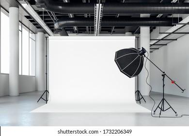 3D-Bild von Reinraumfoto-Studio