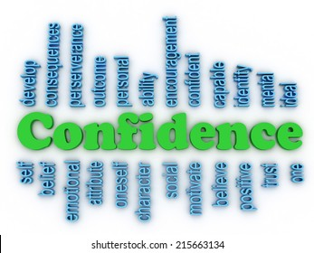 3d image Confidence in Personal Belief concept word cloud background