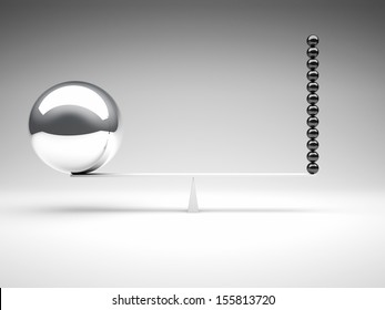 3d image of different balanced balls