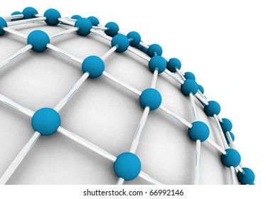 3D image of the network concept