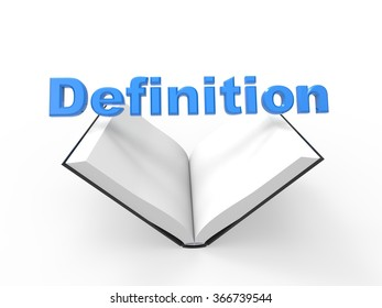 3D image representing definition sign concept / definition