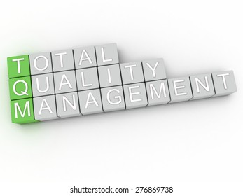 3d image TQM Total Quality Management  issues concept word cloud background