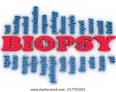 3 D Imagen Biopsy Concept Word Cloud Stock Illustration