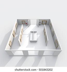 Art Gallery Floor Plan High Res Stock Images Shutterstock